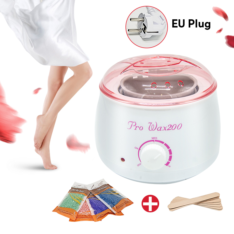 Electric Wax-melt Waxing Machine Heater Wax Warmer Parafin Epilator Hand Feet Body SPA Hair Removal Sets Waxing Kit