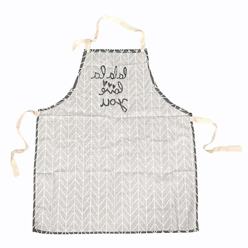 Ev ve Bahçe'ten Önlükler'de Sıcak satış mutfak pişirme cepli önlük için moda evrensel kadın erkek kız  pamuk ve keten  Anti oil  gri title=