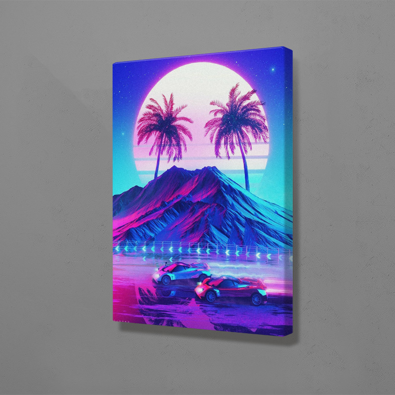 Synthwave Retro Electro Poster Wall Art Canvas For Living Room Home Bedroom Study Dorm Room Art Decoration Prints Best Promo Bae0c Thewellnesssolution