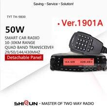 1901a tyt th9800 TH-9800 transceptor móvel estação de rádio automotivo 50 w 809ch repetidor scrambler quad band vhf/uhf rádio do carro