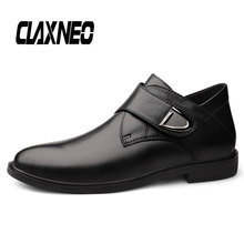 CLAXNEO Man Dress Shoes Genuine Leather Autumn Male Boots Hook & Loop Mens Ankle Boot clax Wedding Footwear