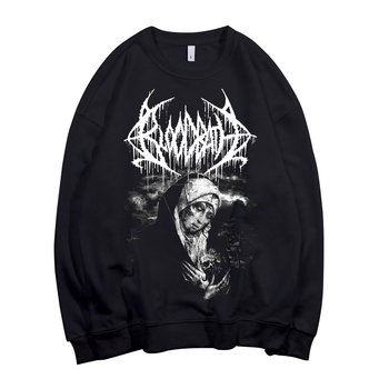 2 designs Bloodbath Pollover Sweatshirt Rock hoodie punk sudadera streetwear fleece Outerwear heavy death metal