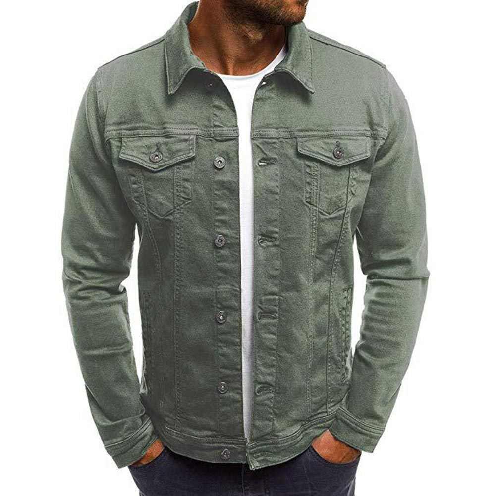 2019 Mannen Denim Jasje Hoge Kwaliteit Cowboy Jeans Jas Mannen Toevallige Slanke Streetwear Mannen Baggy Jean Bomber jas Kleding