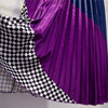 Marwin 2019 Spring New-Coming Europen Color Matching Plaid  Pleated skirt High Street Style Mid-Calf Empire Striped Women Skirts 5