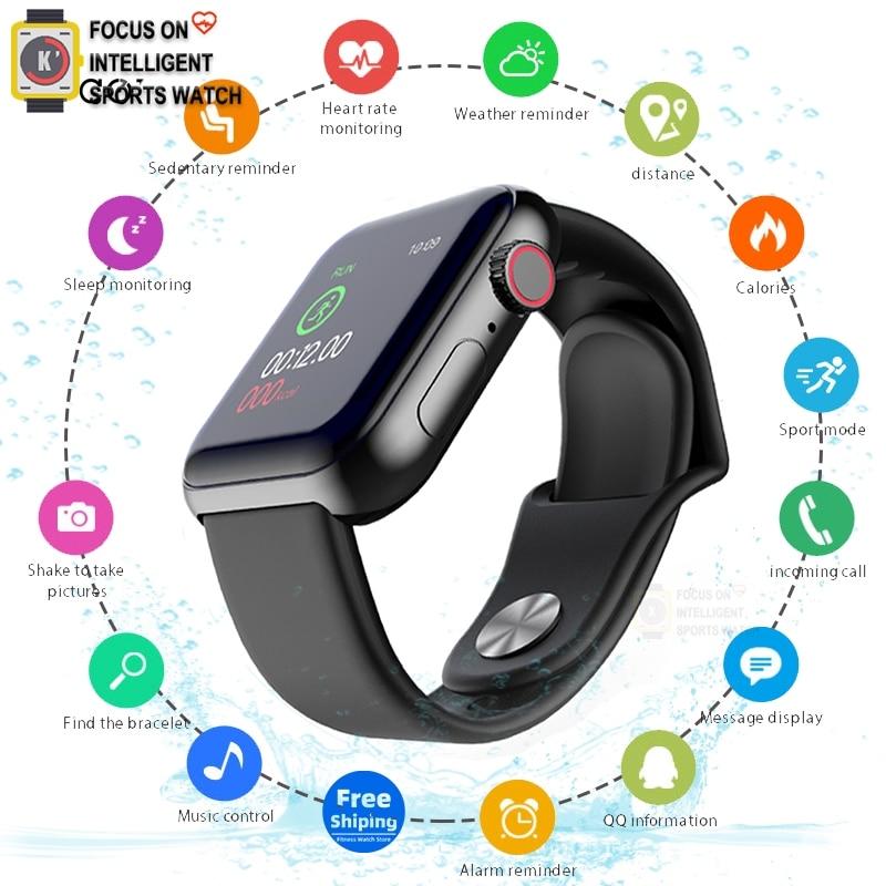 Apple Smart Watch Sports Fitness Bracelet Sleep Tracker Heart Rate Monitor Blood Pressure Smart Band For Women Men PK W34 D20 A6