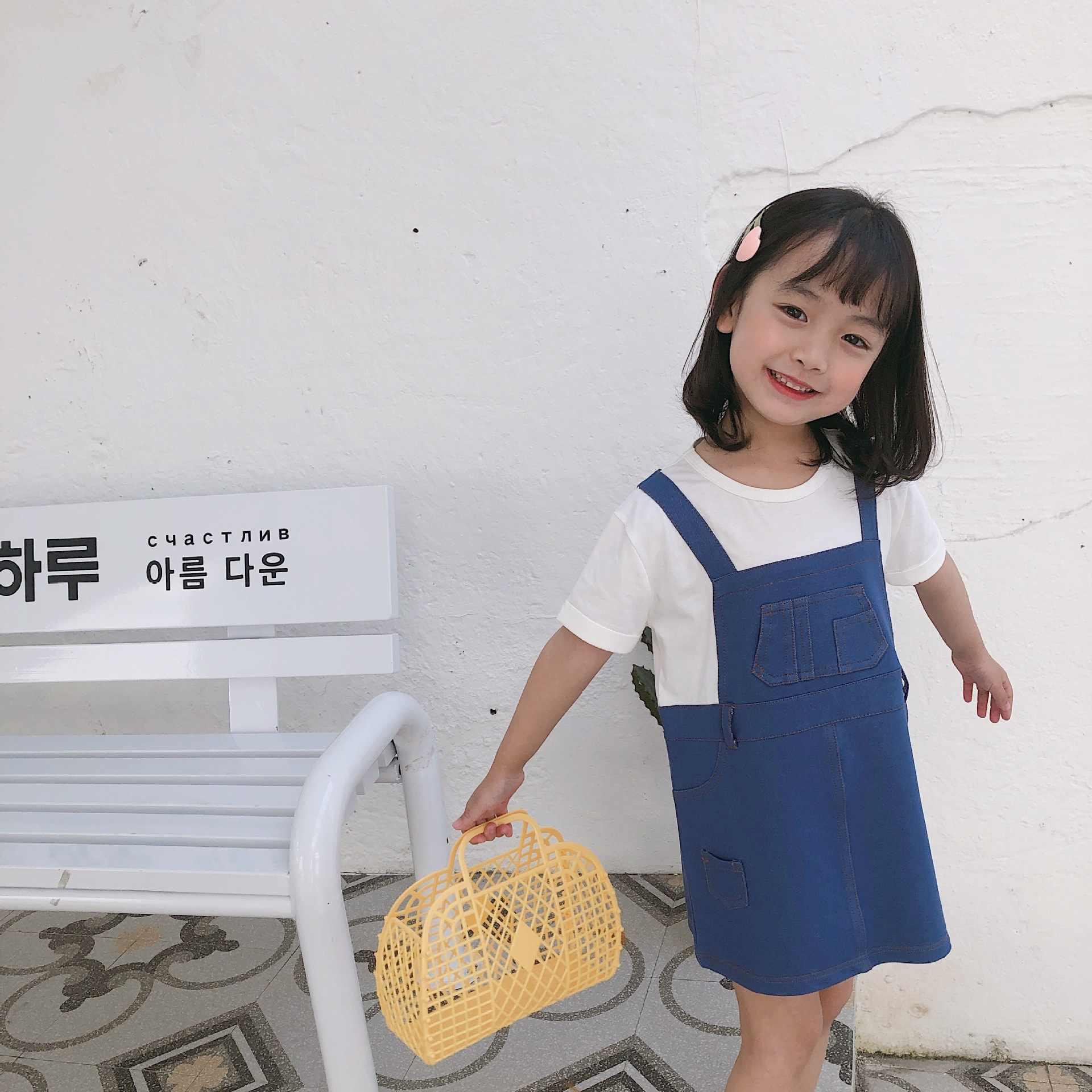 Tonytaobaby Sommer Neue Baby Mädchen Gefälschte 2 Lange Casual Mädchen Kleider