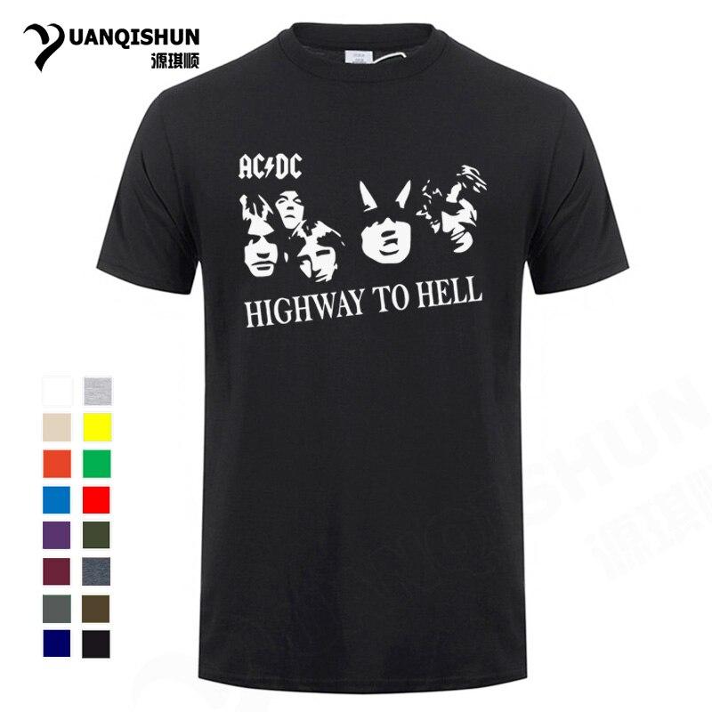 New /& Official Stack Logo Mens Short Sleeve Black Cotton T-Shirt AC//DC