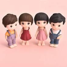 1 par pequenos amantes em miniatura paisagem diy ornamento casa jardim casa de bonecas decoração amantes casais ornamento presente natal