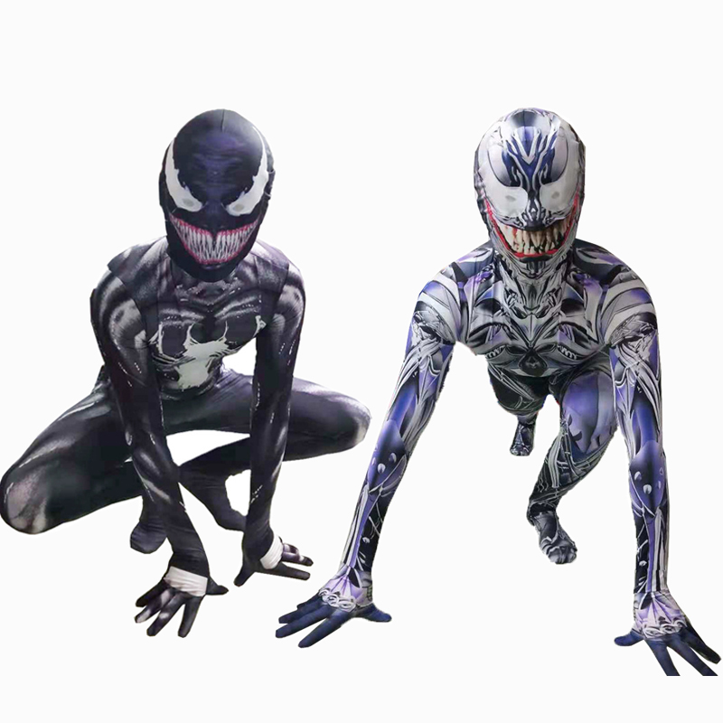 High Quality Venom Cosplay Costume Superhero Movie Venom Costume Adult Kids Boys Halloween Costume For Kids Men
