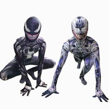 High Quality Venom Cosplay Costume Superhero Movie Venom Costume Adult Kids Boys Halloween Costume For Kids Men цена 2017