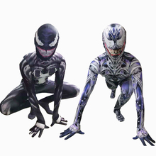 High Quality Venom Spiderman Cosplay Costume Marvel Superhero Movie Adult Kids Boys Halloween For Men