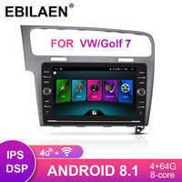 EBILEAN Car Multimedia Radio Player For VW Volkswagen Golf 7 2Din Android 8.1 Autoradio Navigation GPS Stereo Rear Camera