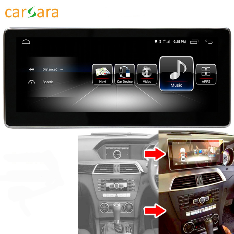 <font><b>Mercedes</b></font> Comand System Update Right hand drive 2G RAM 32G ROM Android monitor for C Class W204 C250 <font><b>C300</b></font> C350 2011-2014 image