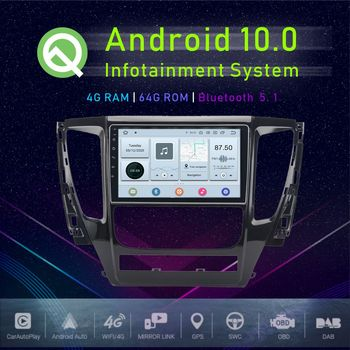 JSTMAX 10.1 Android 10.0 Car GPS Player For Mitsubishi Pajero Sport 2017 2018 Multimedia Radio Player image