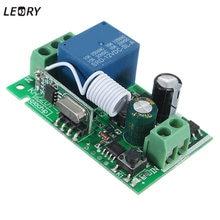 חכם בית DC 12V 220V 10A 1 Ch אלחוטי RF שלט רחוק מקלט ממסר מתג 315/433 MHz ערוץ אבוכי המחיר הטוב ביותר