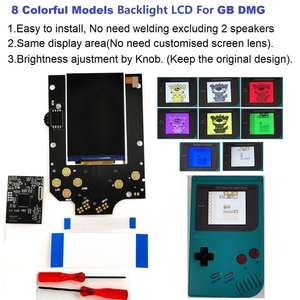 Lcd-Kit Shell-Case Models Gameboy DMG Ips Lcd Backlit Colorful RIPS Console-Gb for Dmg-Gb