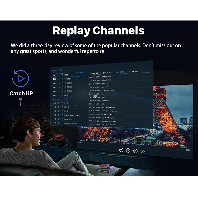 Image 5 - IPTV France 1 Year Subscription Arabic Swedish Portugal Belgium IPTV Spain Germany Italy Code for M3u Android pk QHDTV IP TV-in Set-top Boxes from Consumer Electronics