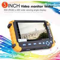 NEW 5 inch TFT LCD HD 5MP TVI AHD CVI CVBS Analog Security Camera Tester Monitor All in One CCTV Tester VGA HDMI Input IV8W