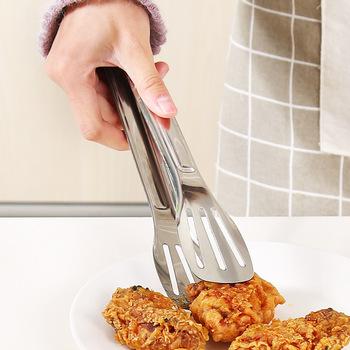 Wielofunkcyjny chleb mięso szczypce do żywności ze stali nierdzewnej szczypce do pieczywa odporne na wysokie temperatury ciasto szczypce szczypce do grilla kuchnia bufet gotowanie narzędzie tanie i dobre opinie Kleszcze Łatwo czyszczone Spawane Odporność na ciepło Non-stick Metal Nie powlekany Food Tong