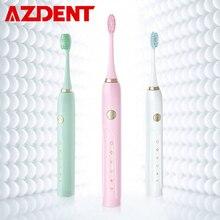 Satış akıllı 5 modları elektrikli diş fırçası şarj edilebilir USB Ultra Sonic diş fırçaları 5 fırça kafaları ile yetişkinler için zamanlayıcı su geçirmez