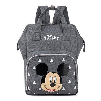 Disney Pre-design Cartoon Baby Diaper Bag Waterproof Baby Bag Organizer Nappy Maternity Bag For Stroller Mom Travel Free Hooks - 4