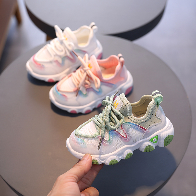 Children Casual Shoes  Autumn Baby Girls Boys Shoes Soft Bottom Non-slip Stretch Cloth Breathable Outdoor Kids Sneakers