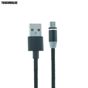Image 4 - 10pcs/lot Auto Connect Magnetic Charging Cable Micro USB Type C Nylon For Android Phone Cable with LED Indicator 2m
