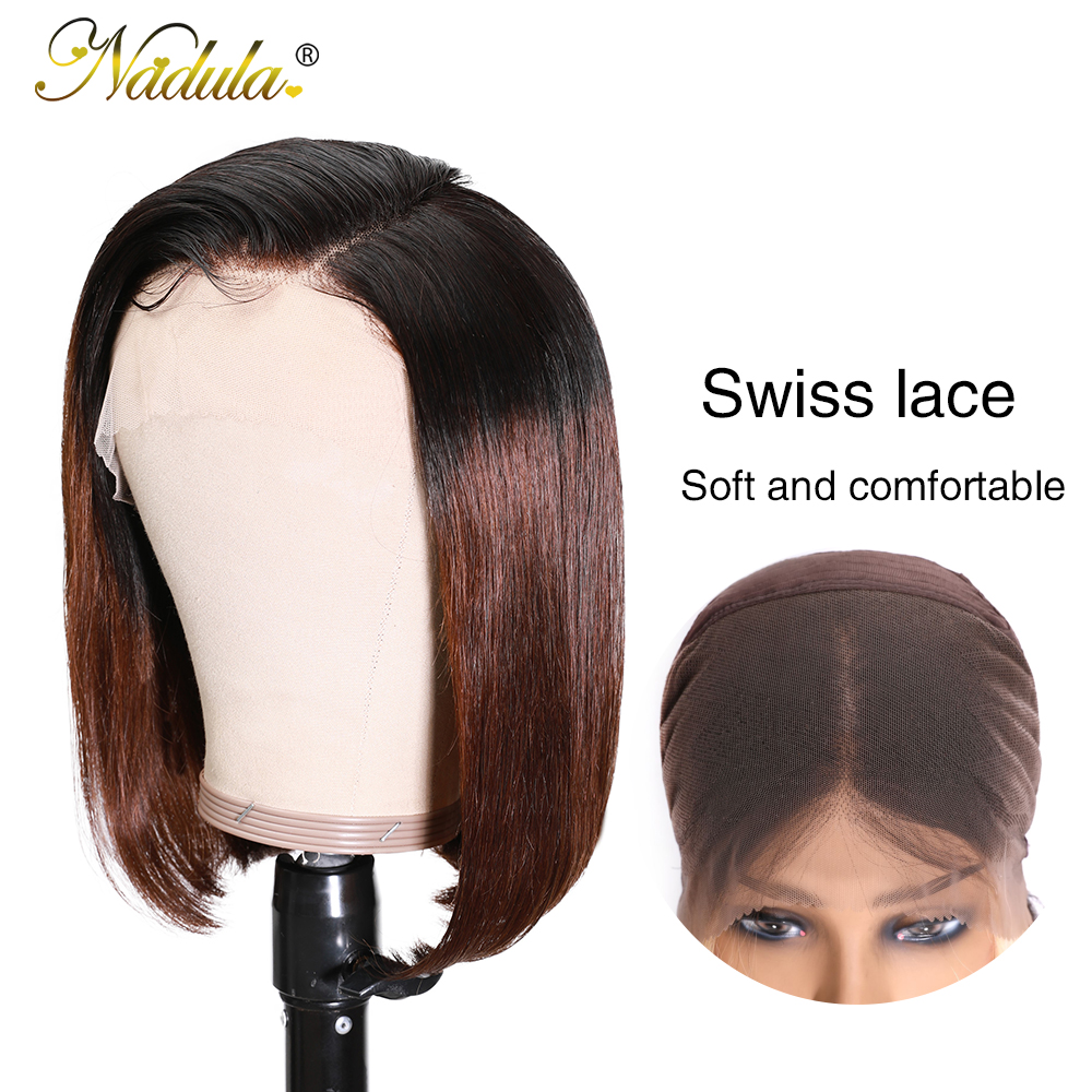 Nadula Wig T1B27 & 1B/4 Ombre Short Lace Front Wig 13*4 Straight  Bob Wig Pre Plucked Short Wigs for Black Women 6