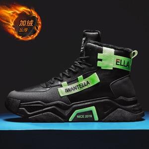 Image 2 - Özel tasarım kış ayakkabı erkekler ayakkabı üzerinde kayma erkekler için yüksek kaliteli erkek ayakkabı su geçirmez sıcak tutmak rahat ayakkabılar erkekler
