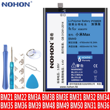NOHON Battery For Xiaomi Mi Mix Max 2 4C 5 5S 6 8 4 5X 6X Note 2 3 Mi5 Mi4C BM22 BM35 BM36 BM39 BM3E BM3B BM49 BM50 BN31 Bateria cheap Above 5000mAh Compatible MSDS ROHS Battery For Mi4C Mi5 Mi5S Mi6 Mi8 Mi5X Mi6X Mi4 Mi3 Mi Note3 Note2 Fully Sealed Package