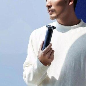 Image 4 - Yeni Xiaomi Mijia S700 elektrikli tıraş makinesi Razor sakal makinesi erkekler için kuru islak ile sakal kesici kafaları düzeltici şarj edilebilir