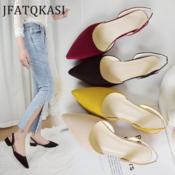Sandals Women Summer Shoes Short Heels Ankle Strap Woman Work Casual Brand Sexy Basic Plus Size 2020 New Style - discount item  45% OFF Women's Shoes