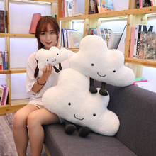 25 60CM cute cloud filled plush toy pillow Creative home decoration cushion Nordic style childrens room toy Birthday gift
