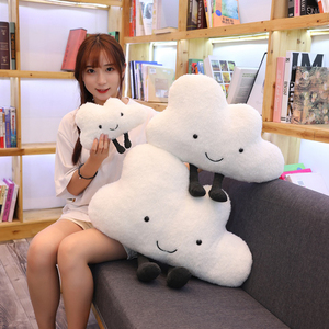 Image 1 - 25 60CM cute cloud filled plush toy pillow Creative home decoration cushion Nordic style childrens room toy Birthday gift