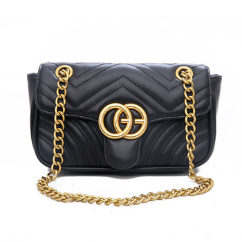 Women's Chain Shoulder Messenger Tote Bag Fashion 2020 Purses and Handbags Flap Buckle Design Crossbody Bags for Women fashion checked and black design women s shoulder bag