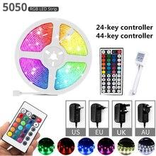 LED Strip Light 12V RGB 5050 LED Light Luces Led Lights Strips Waterproof Flexible Ribbon Fita Lamp DC12V Remote Control Adapter