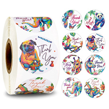1Inch Round Animal Thank You Stickers Seal Label for Scrapbook Package Personalized Decoration Stationery Sticker 500Pc