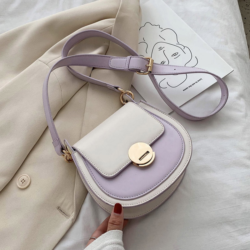 PU Leather Crossbody Bags For Women 2020 Fashion Small Solid Colors Shoulder Bag Female Handbags And Purses Sac A Main Femme