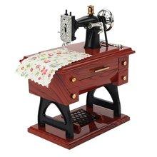 Trumpet Sewing Machine Music Box Nostalgic Simulation Music Box great Gift Retro sewing machine music box