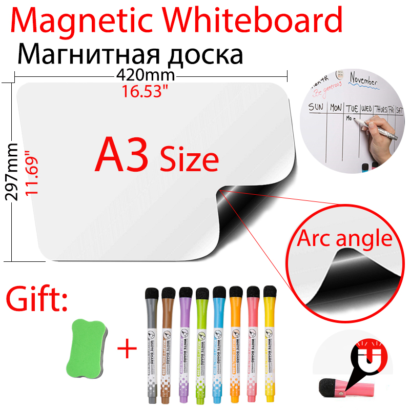 Магнитная доска Arc Angle A3, размер 11,69
