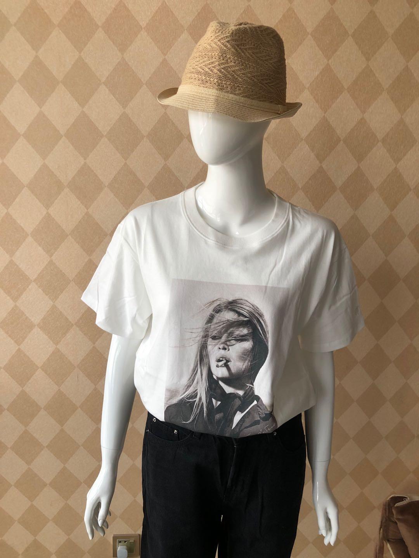 Women T-shirt 2020 100% Cotton Printing White Short Sleeve Cool T-Shirt