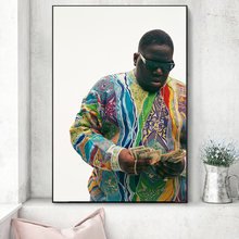 Biggie Smalls The Notorious B.I.G. Hip-Hop Music Canvas Painting Art On Wall Decor Poster And Prints Portrait Picture Decoration