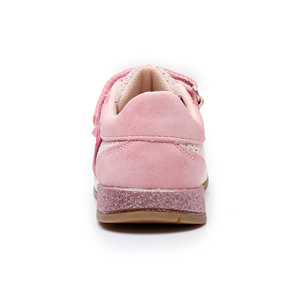 Image 2 - Apakowa Girls Sneaker Shoes Lovely Cute Kids PU Leather with Heart Patched Childrens Hook and Loop Girls Sneaker EU 22 27