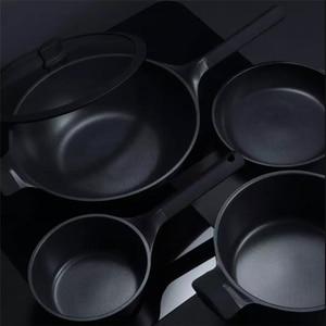 Image 2 - Huohou שאינו מקל סופר פלטינה ווק מחבת Stockpot מחבת חלב עמיד קל נקי גבוהה טמפרטורת תזכורת מטבח כלי בישול
