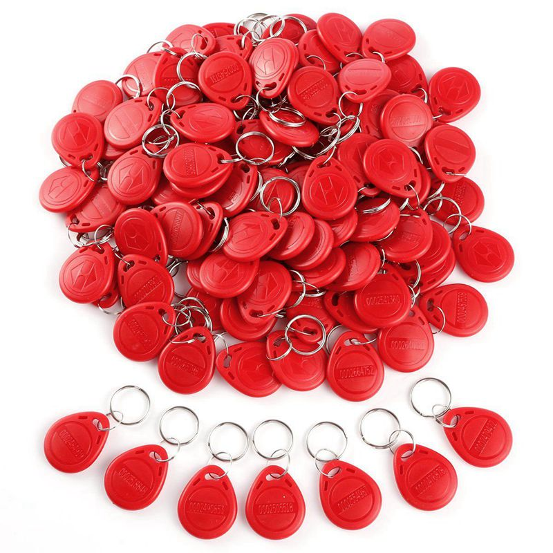 Hot 3C-100pcs Cle ID RFID Remote Control Identification Card Door System Entry Access Tag Badge token lock 125KHZ Red