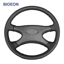 أغطية عجلة قيادة من الجلد الصناعي ، غرزة يدوية ، أسود ، لادا نيفا 2107 1995 2012 2121 2001 2009 2131 2329 2000 2013