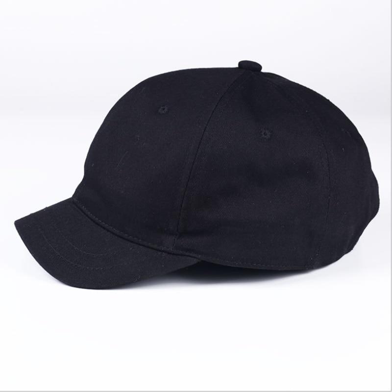 WZCX Short Side Unisex Solid Color Peaked Cap Adjustable Fashion Vintage Spring Summer Korean Version Snapback Baseball Cap