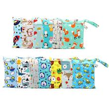 Baby Diaper Storage Bag Cute Multiple Uses Waterproof Portable Cartoon Lovely Handle Design Suspension Pouch Tote Easy Clean