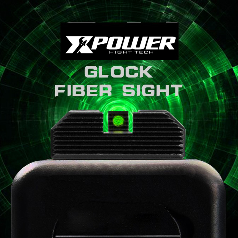 XPOWER TM GLOCK Fiber Sight Glock 17 Unicorn Industries Airsoft / Gel Blaster Can Fit Kublai P1 Paintball Accessories