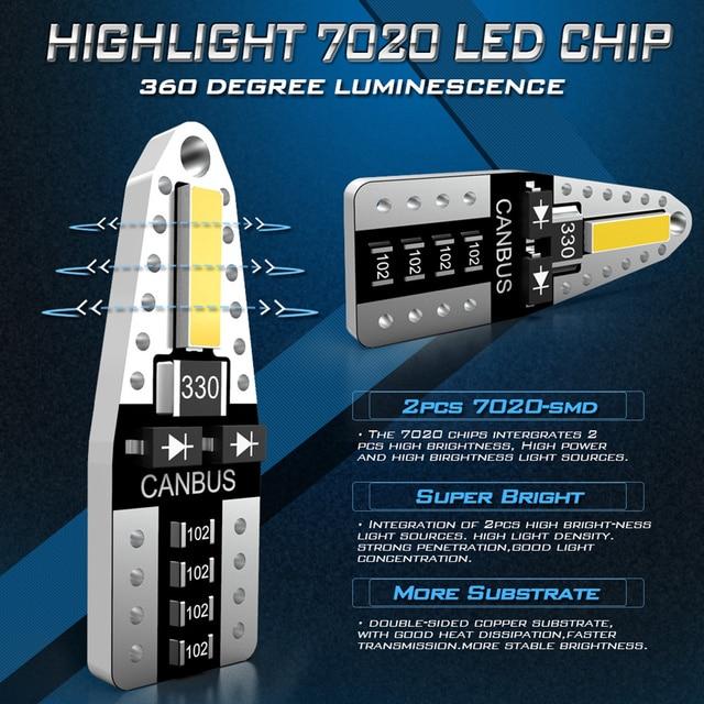 Katur 10x Canbus T10 LED W5W 2825 Interior Lights For Nissan Qashqai J10 J11 X-Trail t31 t32 Tiida Pathfinder Murano Note Juke 5